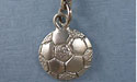 Soccerball Zipper Puller - Lead Free Pewter